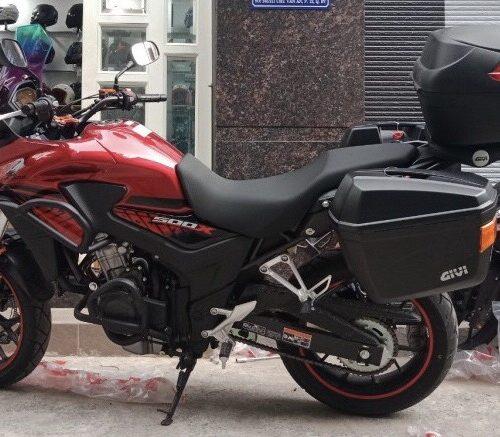 Gắn thùng Givi cho xe Honda CB500X